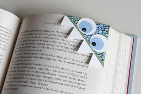 DIY paper monster bookmark