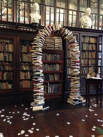 book wedding arch