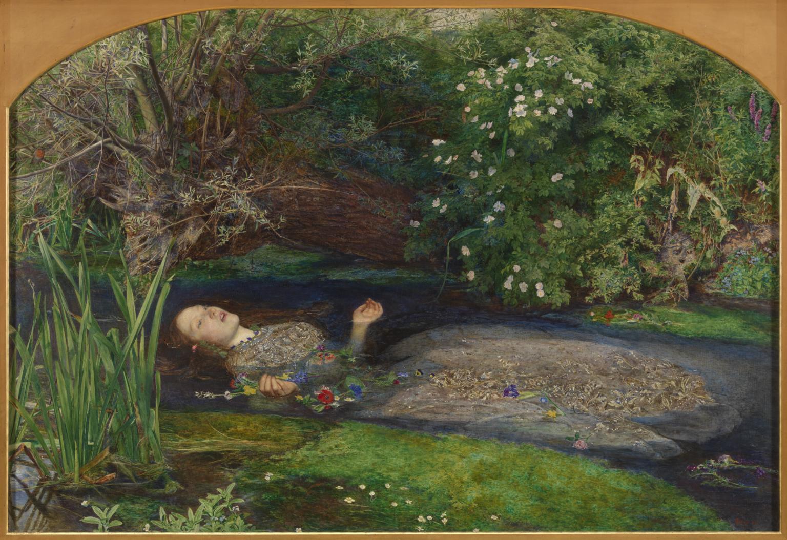 Ophelia by Sir John Everett Millais, Bt 1829-1896