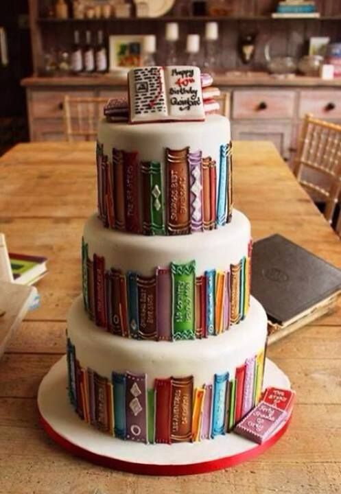 book cake wedding