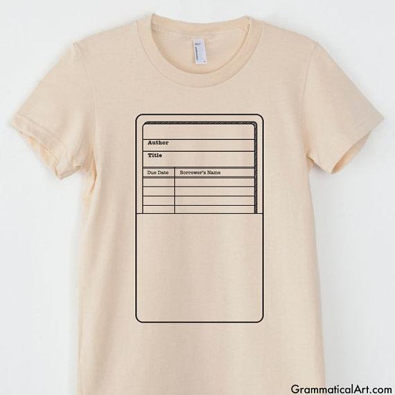 library card shirt