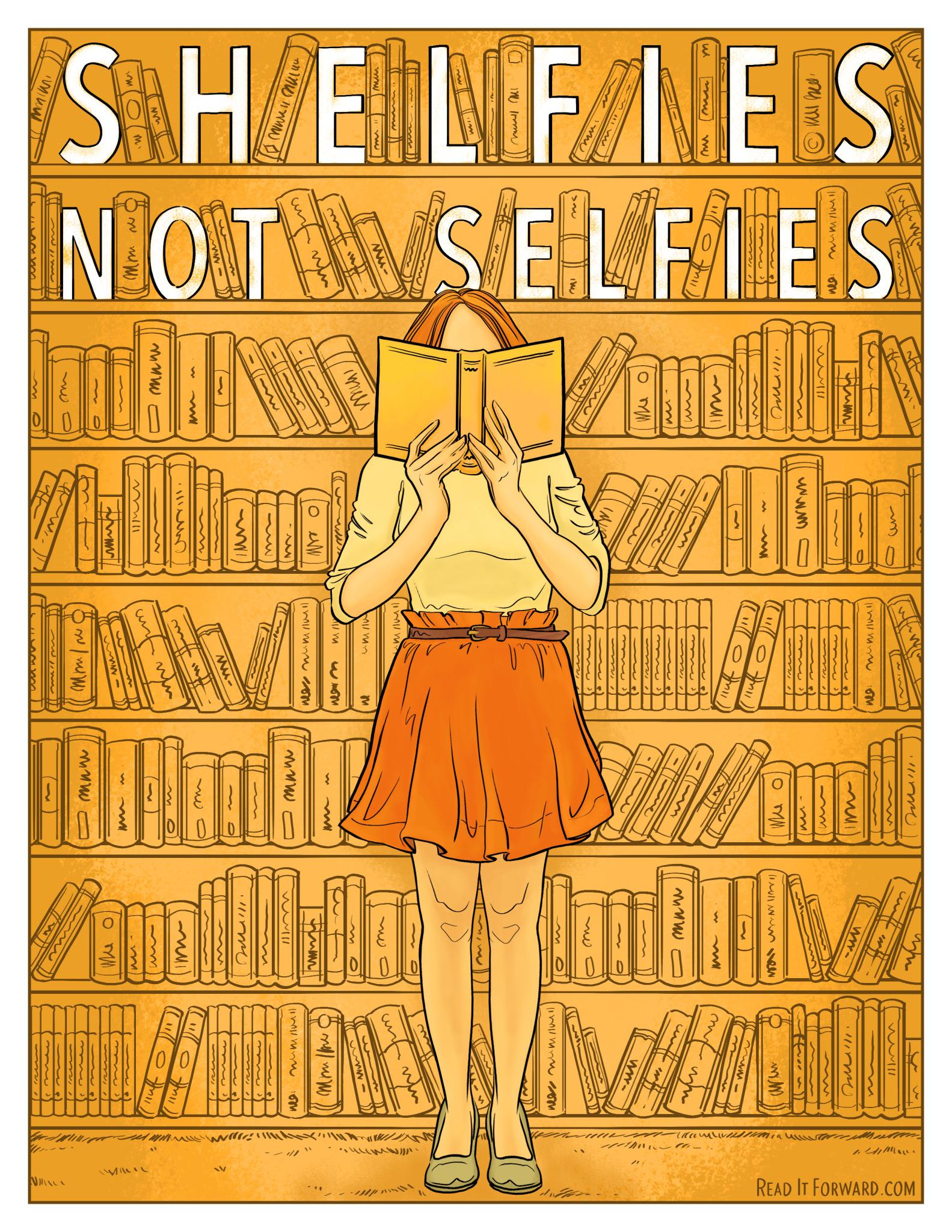 shelfies not selfies