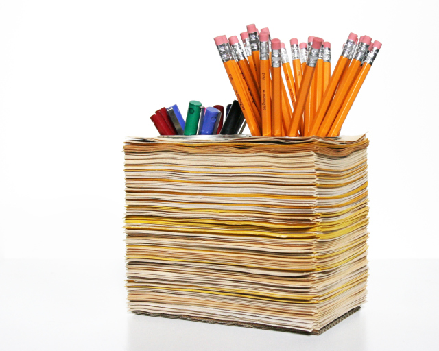 pen holder from books
