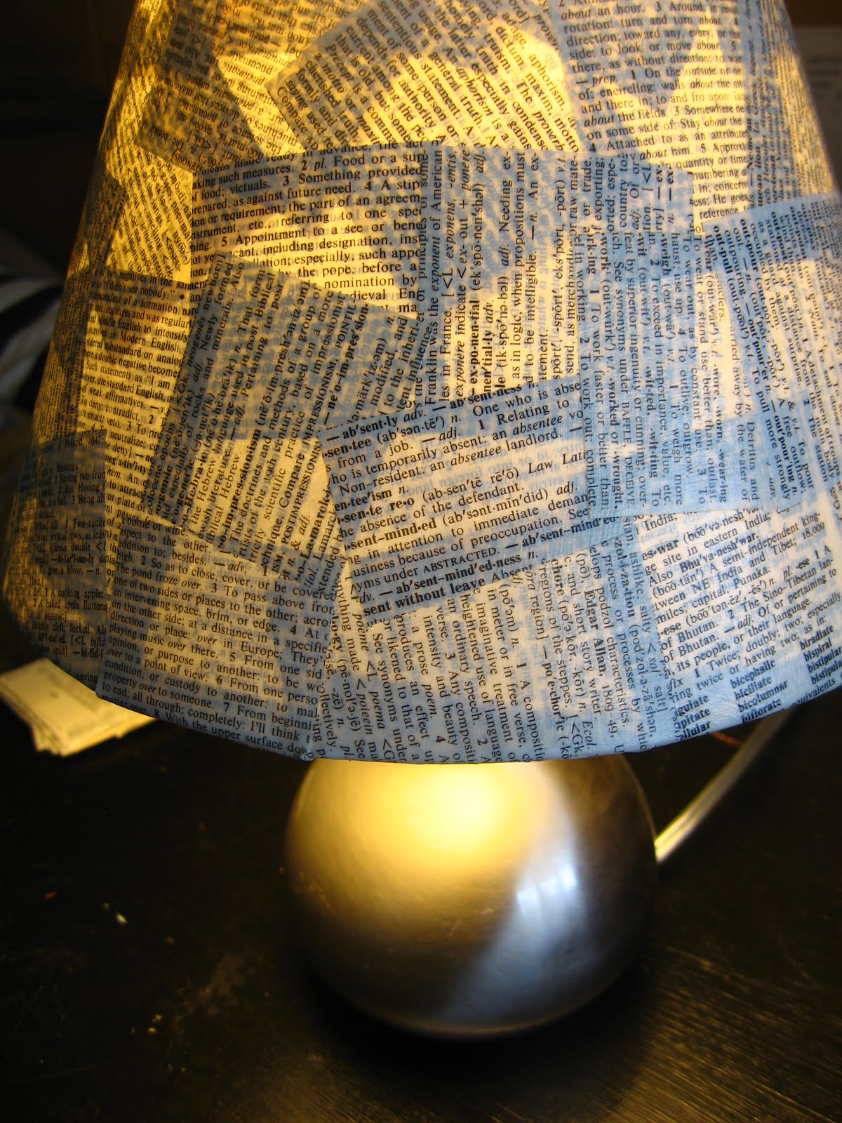 lamp from book pages