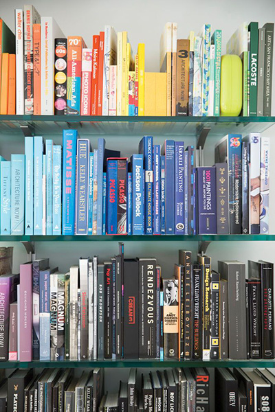 colorful shelfie