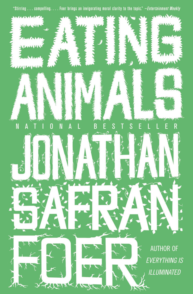 The cover of the book Eating Animals