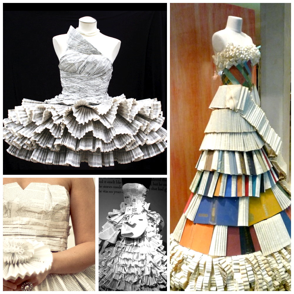 dresses made from books oscar fashion
