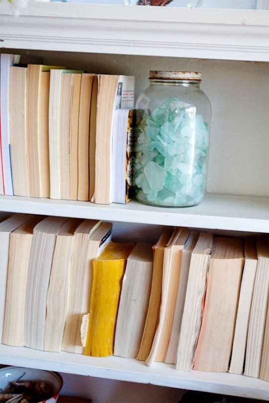 beach glass bookends
