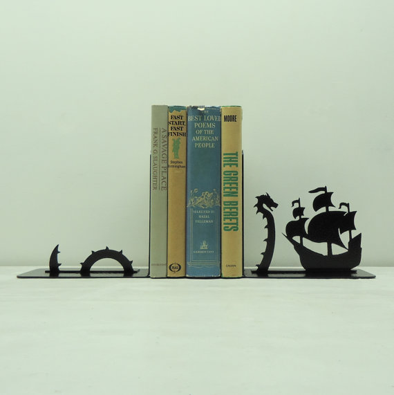 sea serpent bookend