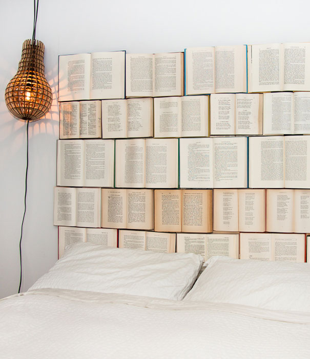 Books as headboard