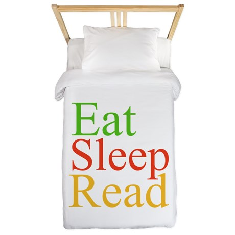 Eat Sleep Read duvet