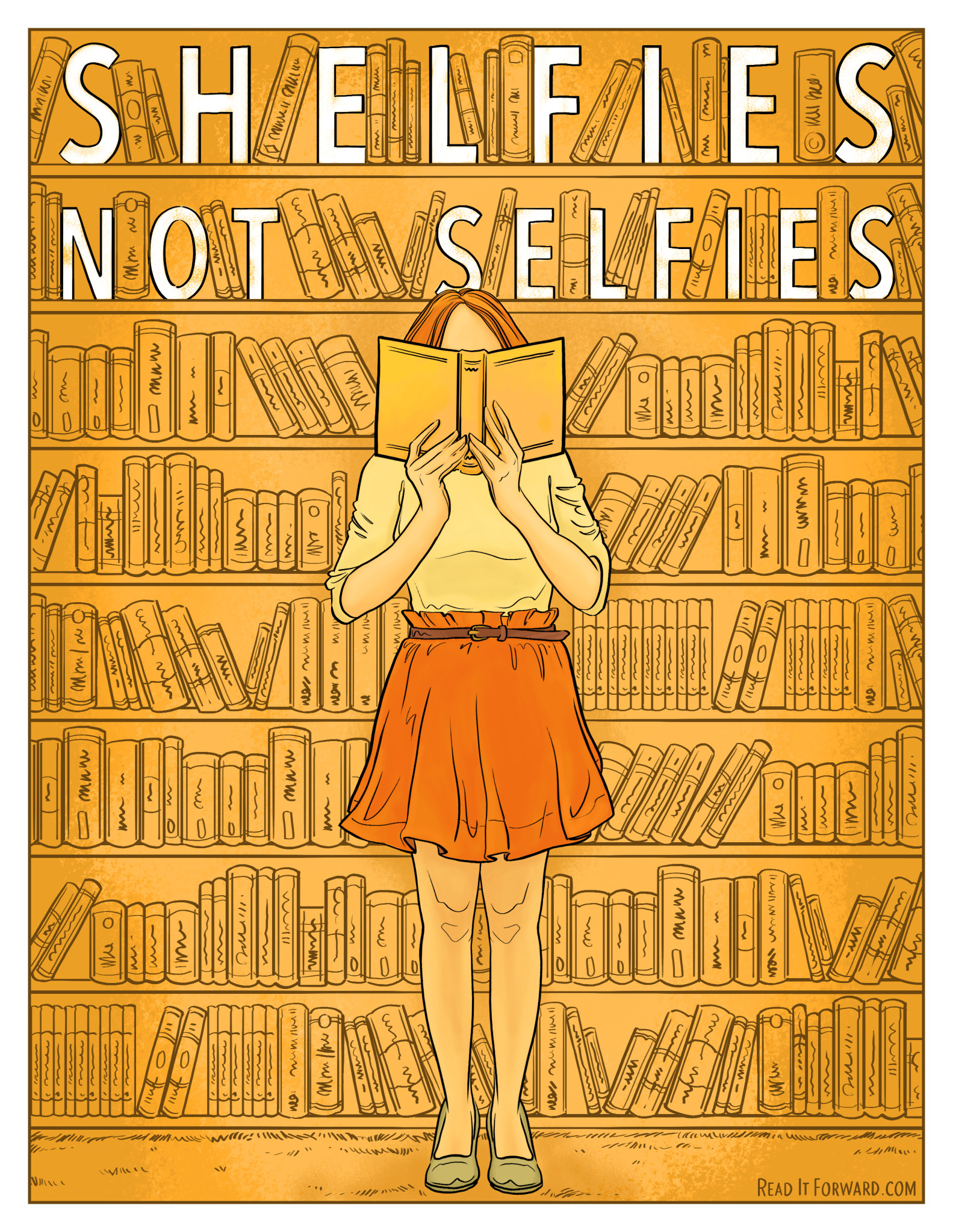 shelfies not selfies