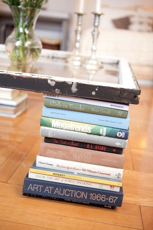 coffee table made from books