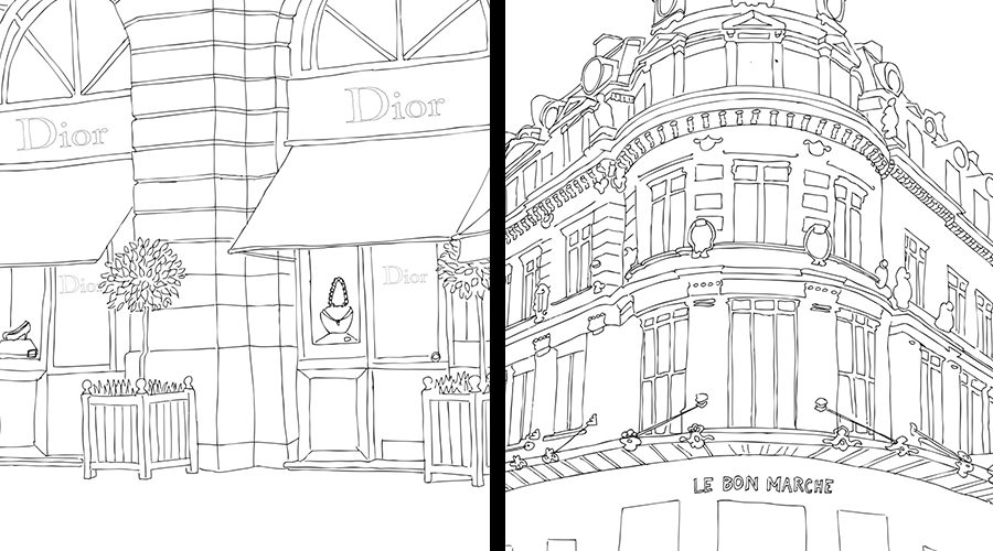 Paris Street Style Coloring Book