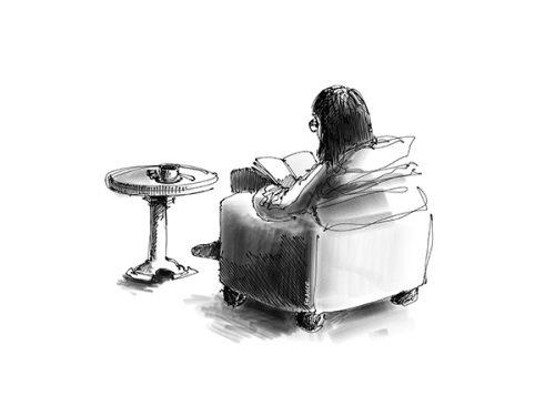 Fille au Café