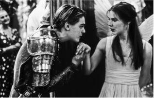The movie Romeo + Juliet, with Leonardo DiCaprio and Claire Danes
