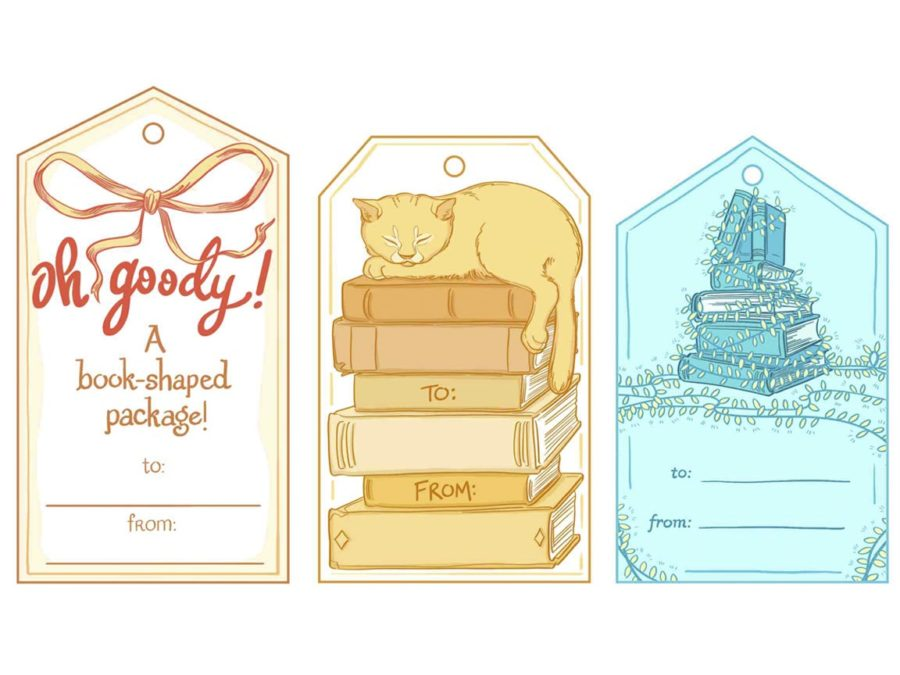 literary gift tags