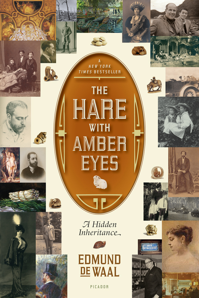 The cover of the book The Hare with Amber Eyes