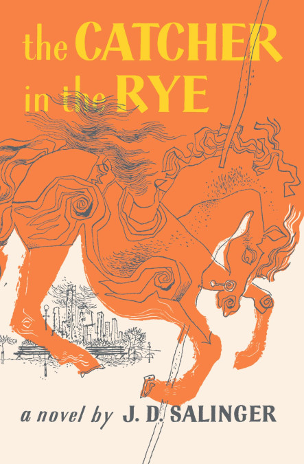 The cover of the book THE CATCHER IN THE RYE