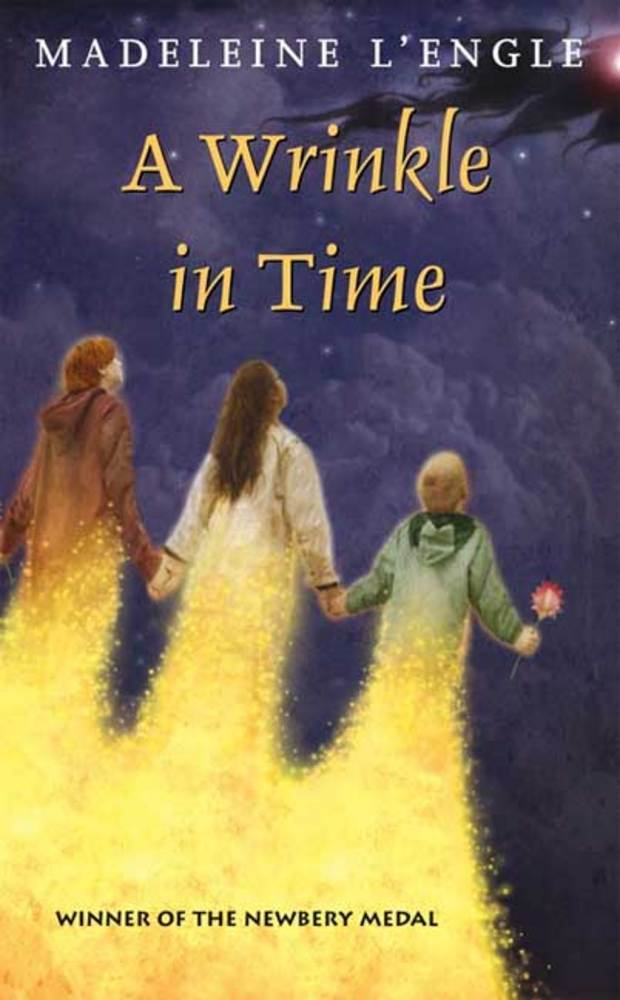 The cover of the book A WRINKLE IN TIME