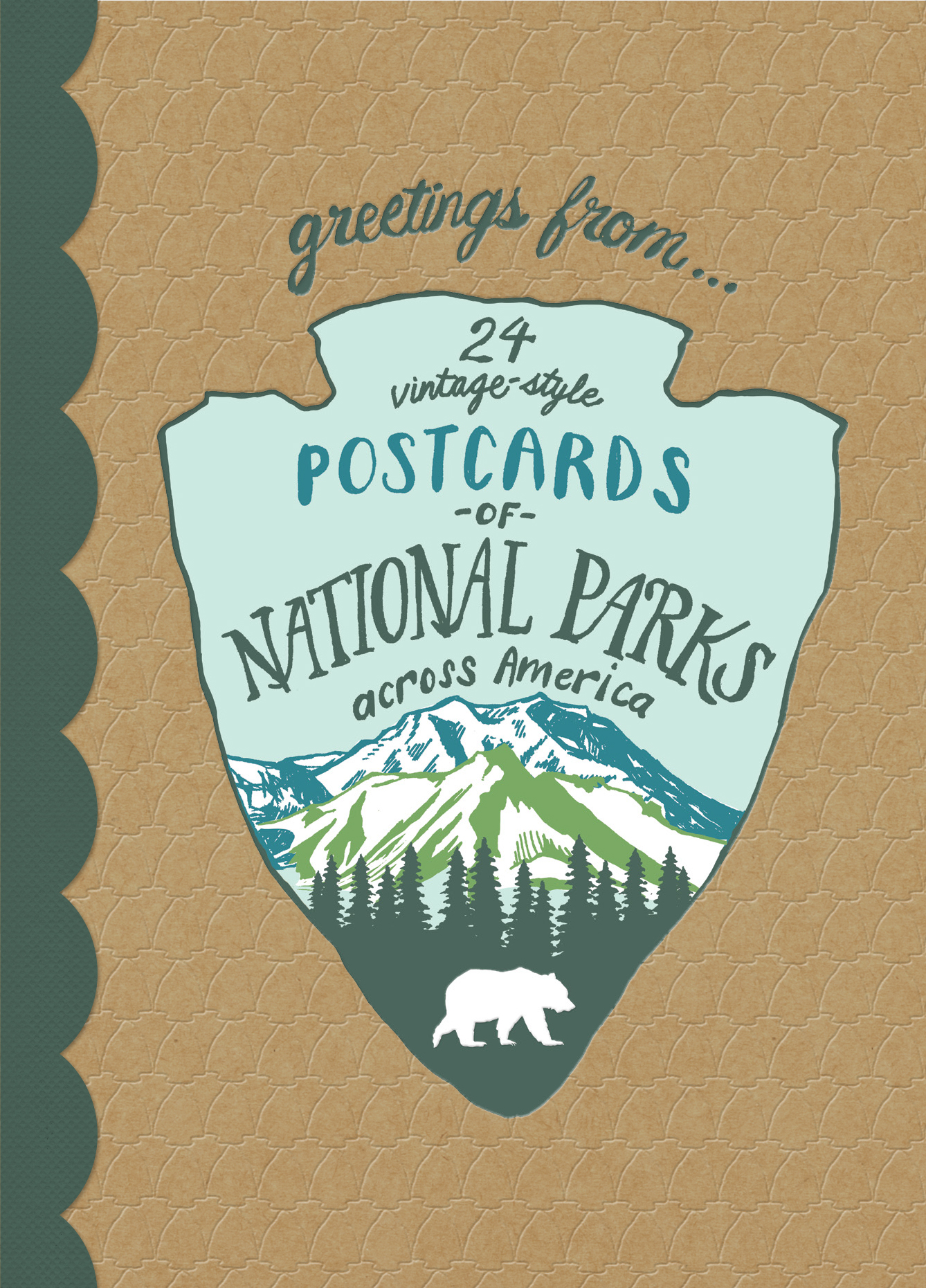 Greetings From: 24 Vintage-Style Postcards from National Parks Across America by Kathryn Hunter
