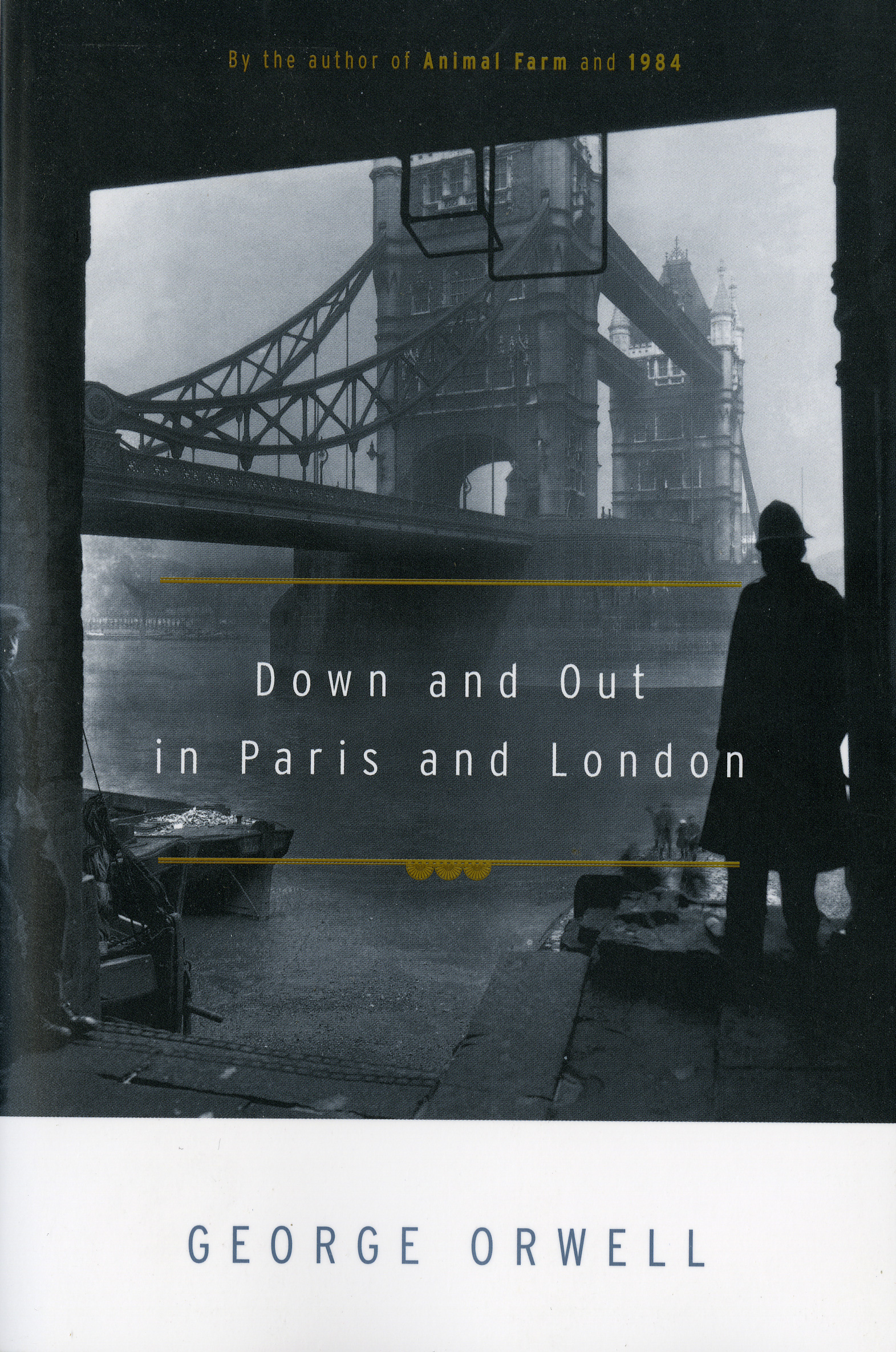 The cover of the book Down and Out in Paris and London