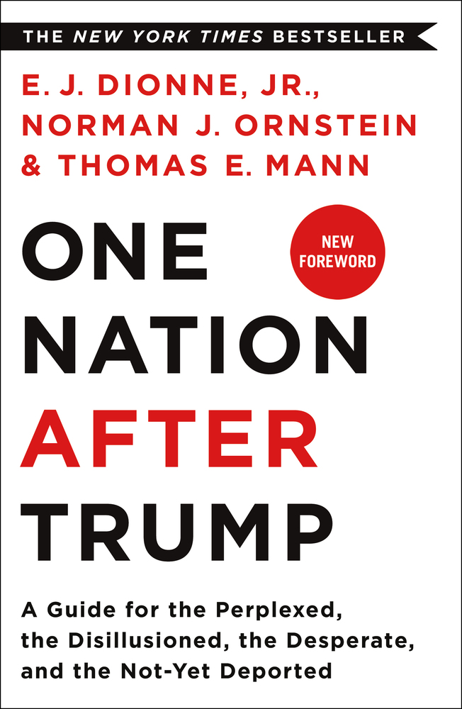 One Nation After Trump by E.J. Dionne, Jr., Norman Ornstein, and Thomas Mann