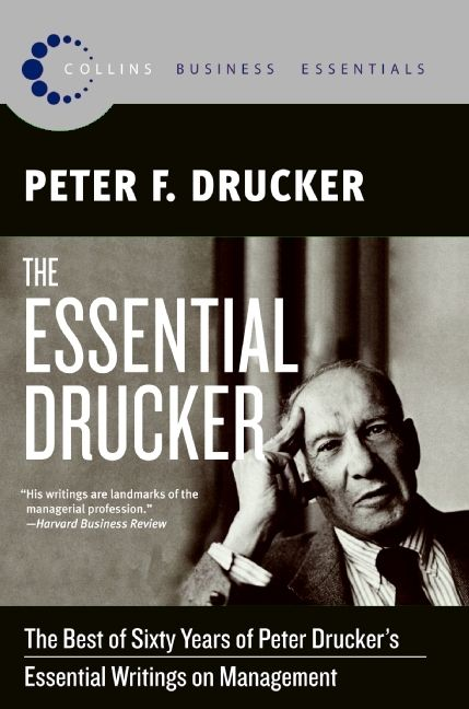 The cover of the book The Essential Drucker