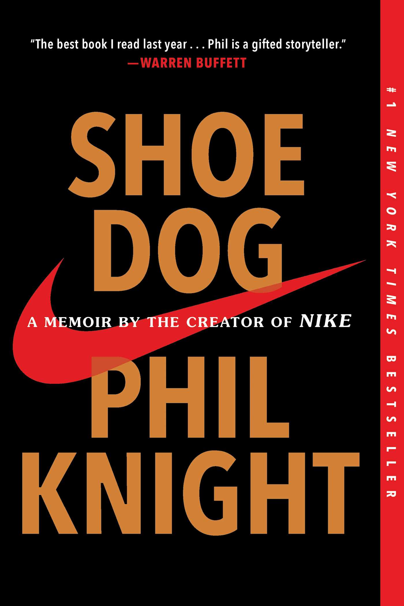 The cover of the book Shoe Dog