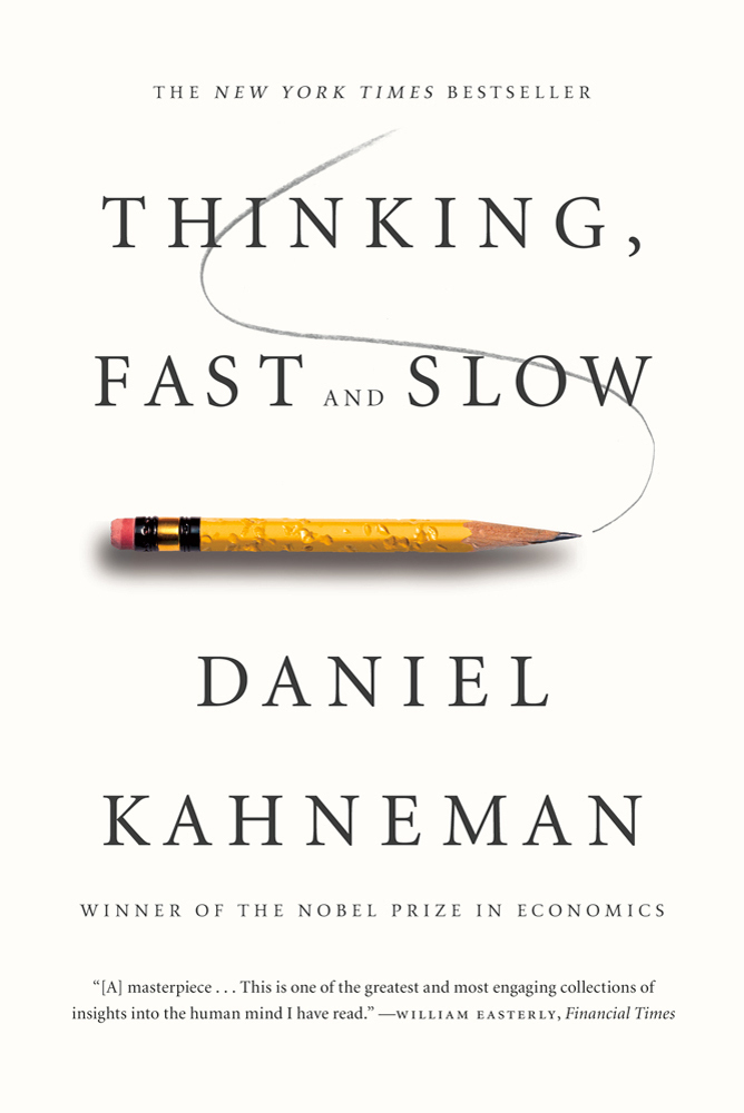 The cover of the book Thinking, Fast and Slow