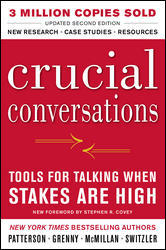 The cover of the book Crucial Conversations: Tools for Talking When Stakes Are High